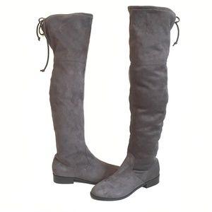 Steve Madden Grey Orlene Over The Knee Boots 8.5